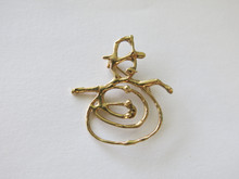 Snowman Pin in 14k gold