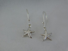 Extra Small Starfish Earrings in Sterling Silver with French Wires