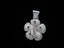 Hibiscus Pendant, Sterling Silver