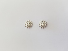 Small Sun Earrings, Small in Sterling Silver, Post