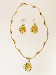 Sarah Sun Pendant- Gold