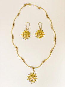 Large Sun Earrings