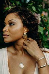 Chenkin Shell Earrings
