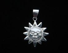 Sarah Sun Pendant, Silver