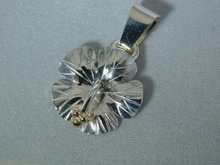 Hibiscus Pendants, Silver with 14K Gold Balls