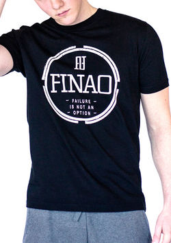 FINAO® Classics Crew Neck Pursuit Tee Black