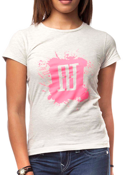 Women's Splash Tee - White & Pink