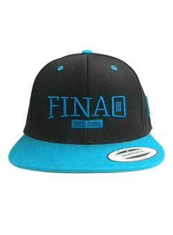 Classic 3D FINAO Snapback Flexfit Pro-Style Wool Hat - Teal & Black
