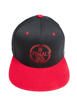 FINAO 3D Pursuit Snapback Flexfit Pro-Style Wool Hat - Red & Black