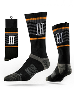 FINAO® Classics Strideline Tech Athletic Socks - Black