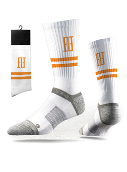 FINAO® Classics Strideline Tech Athletic Socks - White