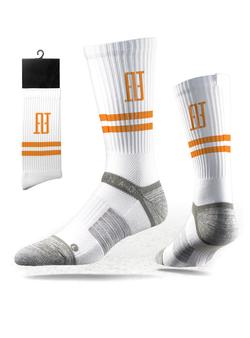 FINAO® Classics Strideline Tech Athletic Socks - White