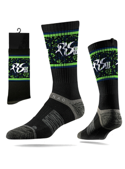 Richard Sherman RS25 Strideline Tech Athletic Socks - Black