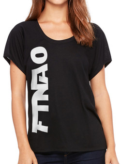 Women's Vertical Go Tee - Black