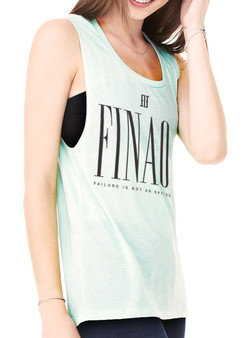 Women's Elegant Thoughts Tank Top - Teal