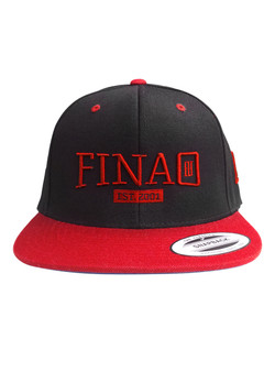 Classic 3D FINAO Snapback Flexfit Pro-Style Wool Hat - Red & Black