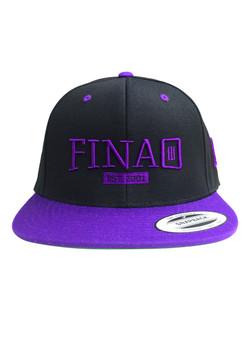 Classic 3D FINAO Snapback Flexfit Pro-Style Wool Hat - Purple & Black