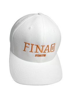 FINAO Classic Flexfit Wool Hat- White & Orange