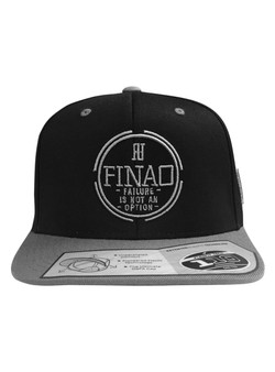 FINAO 3D Pursuit Snapback Flexfit Pro-Style Wool Hat - Silver & Black