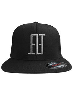 FINAO 3D Big Mark Flexfit Hat - Black & Silver