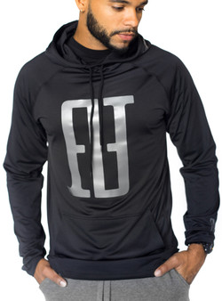 FINAO Big Mark Sport Hoodie - Black