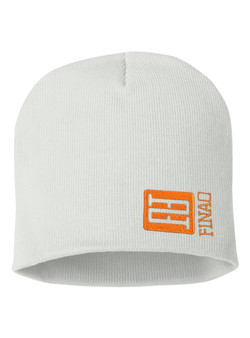 FINAO Big Mark Beanie Hat - White