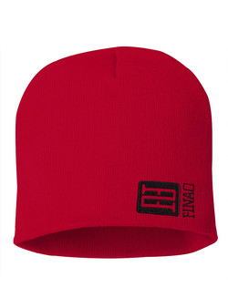 FINAO Big Mark Beanie Hat - Red