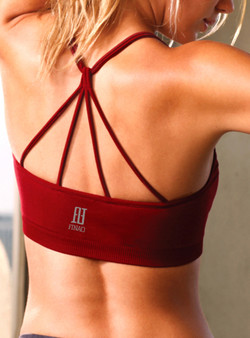 Strappy Sports Bra - Burgandy