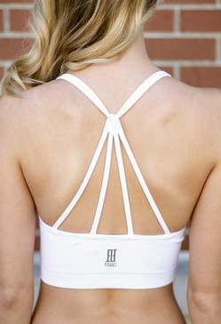 Strappy Sports Bra - White