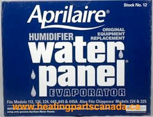 Aprilaire #12 Humidifier Filter Water Panel Mississauga Ottawa Canada