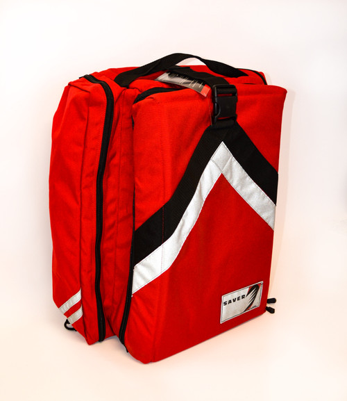 Saver 2140 O2 Backpack Kit - side and front view