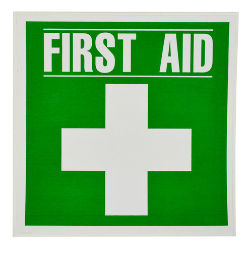 Sticker - Large First Aid