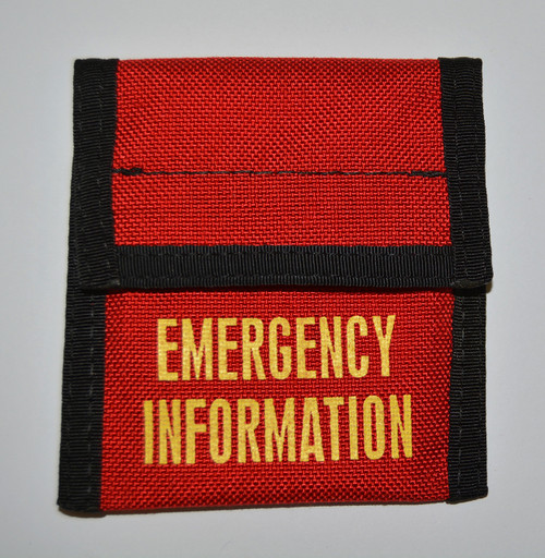 Emergency Incident Pouch/Wallet red
