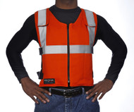 Cool Vest Orange Banox Reflective With Cool Pack