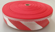 75 mm x 50 m roll Polypropylene Webbing Red/White