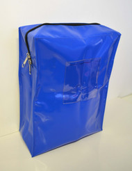 DHS Vinyl Document Bag Blue