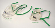Single Use Elongated Oxygen Masks Adult & Child