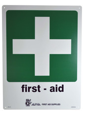 First Aid Sign Plastic