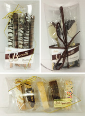 5 piece Mini Pillow Box Gift - Biscotti, Pretzels or Java Spoons