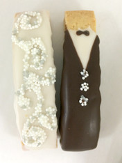 Bride & Groom MINI Biscotti Wedding Favors
