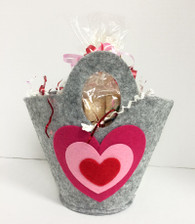 Felt Valentine's Bucket