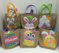 Easter Burlap Gift Bag