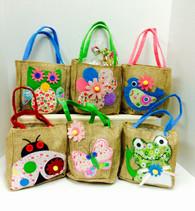 Spring Burlap Gift Bag