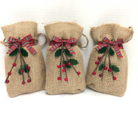 Holiday Burlap Bags - 4 oz. Truly Vanilla MicroMini Bites