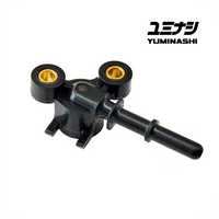 YUMINASHI 2-PIN, LEFT SIDE, INJECTOR JOINT (A-TYPE 31MM / 32MM THROTTLE BODY ) (16422-000-A00)