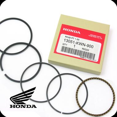 GENUINE HONDA 1.00 RING SET, PISTON (PCX125 / SH125i / CLICK125i / AIR BLADE125) (13051-KWN-900)