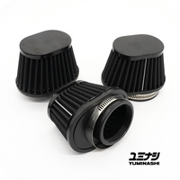 YUMINASHI 50MM OVAL BLACK PERFORMANCE SERIES, NON-WOVEN AIR FILTER (17220-000-V50B)