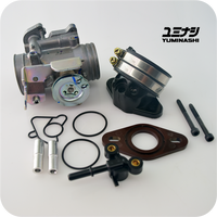 KEIHIN/YUMINASHI 37MM THR. BODY UPGRADE / A-TYPE MANIFOLD SET (INNOVA 125 / WAVE125i / BIZ125) (16410-KTM-D37S)