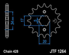 16T (428) SCM420 CHROMOLY STEEL ALLOY SPROCKET (JTF1264) (JTA-H-DA-428-F-16)