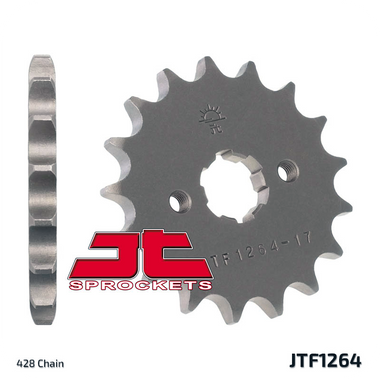17T (428) SCM420 CHROMOLY STEEL ALLOY SPROCKET (JTF1264) (JTA-H-DA-428-F-17)